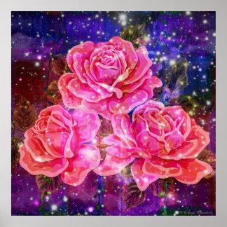 Rosas con el poster de las chispas
