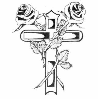 Rosas con imagen cruzada del bosquejo llavero fotográfico