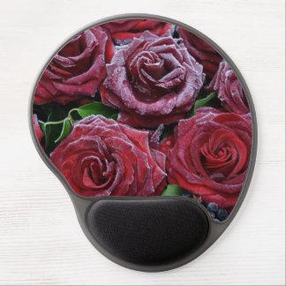 Rosas congelados maravillosos alfombrilla gel