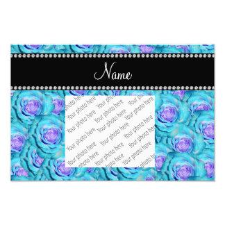 Rosas conocidos personalizados de la turquesa fotografias