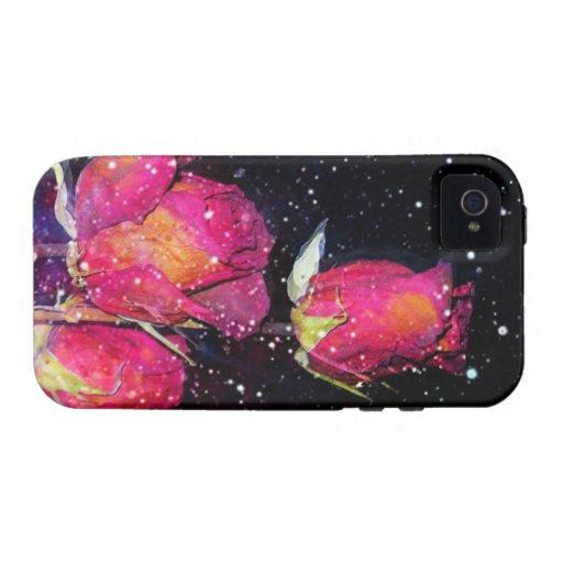 Rosas cósmicos II iPhone 4 Carcasas