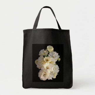 Rosas de bebé blancos bolsa tela para la compra