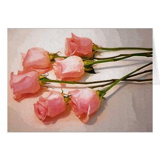 Rosas de bebé tarjeta de felicitación
