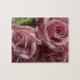 Rosas de color rosa oscuro #2 - rompecabezas