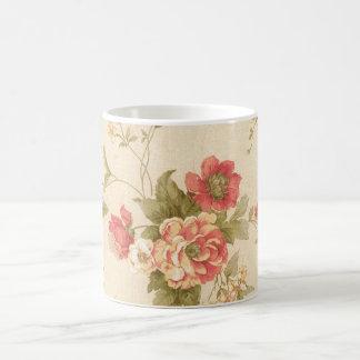 rosas de COM del imagem Taza De Café