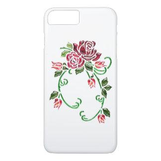Rosas de cristal grabados en relieve bonito funda iPhone 7 plus