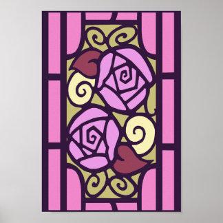 Rosas de Deco en rosa Poster
