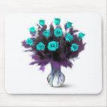 Rosas de docena azules - regalos tapete de raton