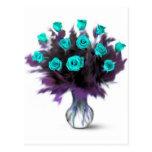Rosas de docena azules - regalos tarjetas postales