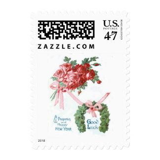 Rosas de herradura subiós ramo timbre postal