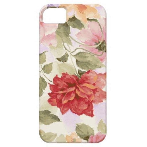 Rosas de la acuarela del vintage iPhone 5 fundas