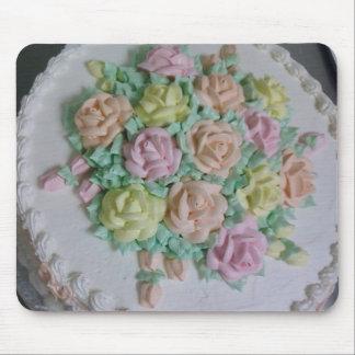 Rosas de la formación de hielo de Buttercream Tapetes De Raton
