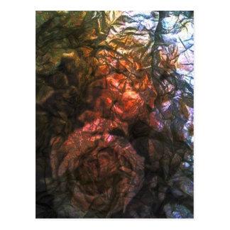 Rosas de la hoja postales