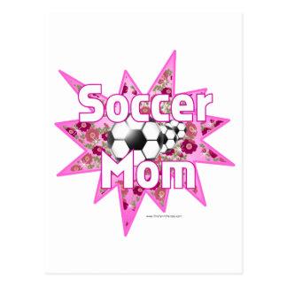 Rosas de la mamá del fútbol postal