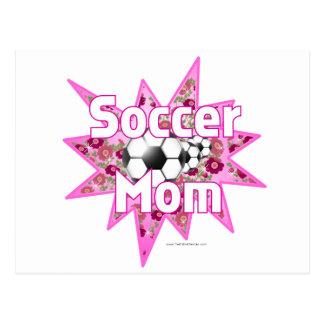Rosas de la mamá del fútbol postales