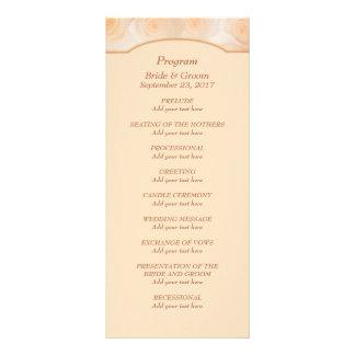 Rosas de la mandarina personalizados casando lonas