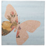 Rosas de la mariposa servilletas