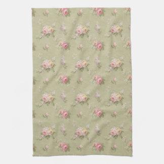 Rosas de la moda de la cabaña toallas de cocina