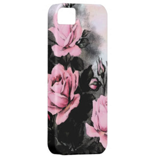 Rosas de la oscuridad del vintage iPhone 5 fundas