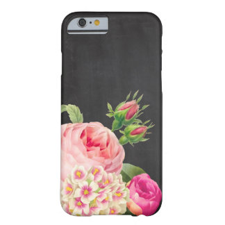 Rosas de la pizarra/del vintage de PixDezines Funda De iPhone 6 Barely There