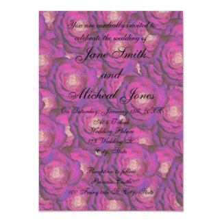 Rosas de la púrpura del monograma del boda comunicados personalizados