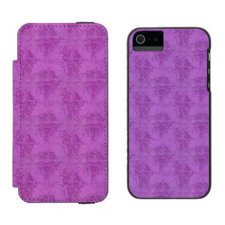 Rosas de la púrpura del vintage funda billetera para iPhone 5 watson