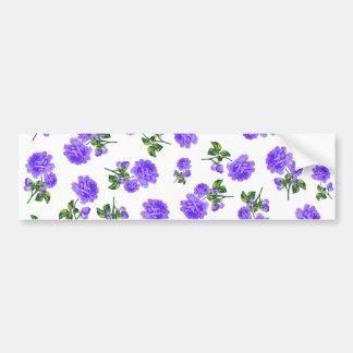 Rosas de la púrpura del vintage pegatina para auto