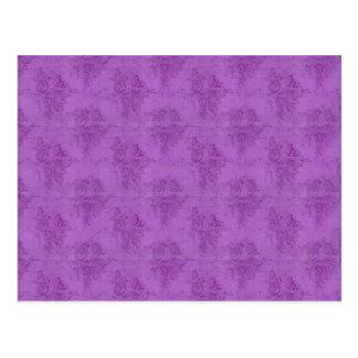 Rosas de la púrpura del vintage postales