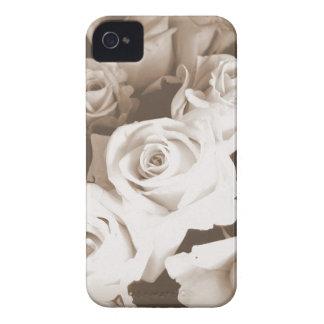 Rosas de la sepia iPhone 4 carcasas