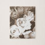 Rosas de la sepia rompecabeza con fotos