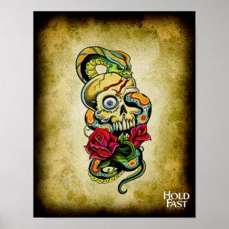 Rosas de la serpiente del cráneo posters