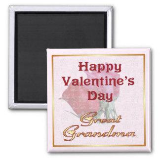 Rosas de la tarjeta del día de San Valentín - gran Imán Cuadrado