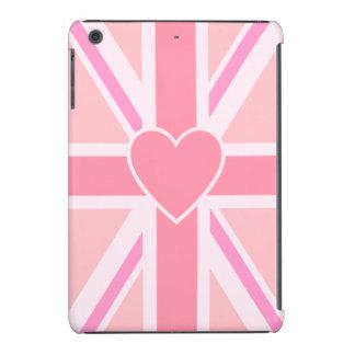Rosas de la vertical y del corazón de la bandera funda para iPad mini retina