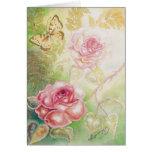 Rosas de las tarjetas del arte del Elysium