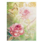 Rosas de las tarjetas del arte del Elysium Postal
