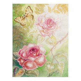 Rosas de las tarjetas del arte del Elysium Tarjeta Postal