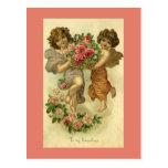 Rosas de los ángeles del Victorian del el día de Tarjeta Postal