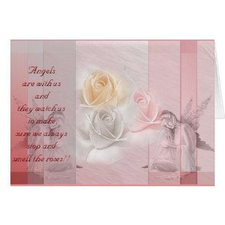Rosas de los ángeles n tarjeton