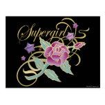 Rosas de lujo de Supergirl Tarjeta Postal