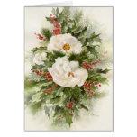 Rosas de navidad 09CCS2-1 Tarjeta
