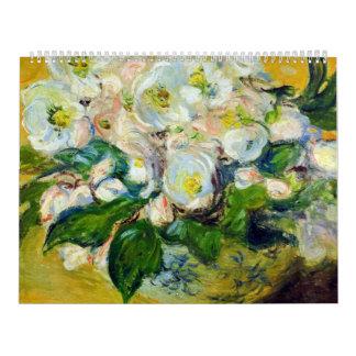 Rosas de navidad - Claude Monet Calendario De Pared