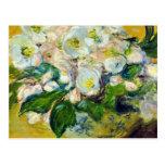 Rosas de navidad - Claude Monet Postal