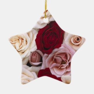 Rosas de navidad adorno