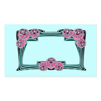 Rosas de Nouveau del arte Tarjeta De Visita