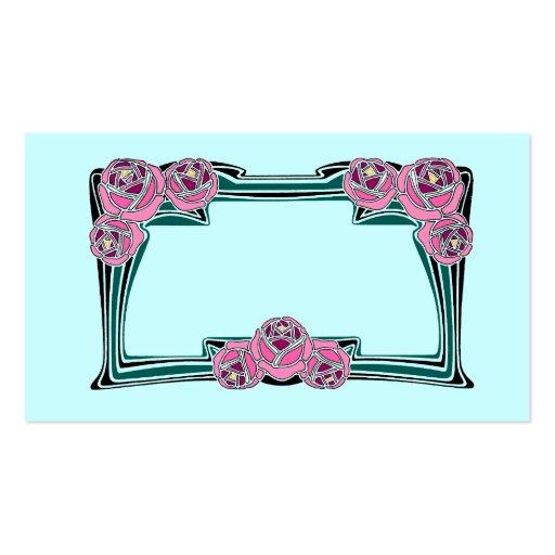 Rosas de Nouveau del arte Tarjetas De Visita