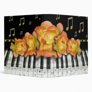 """Rosas de Organe del amarillo del teclado de piano Carpeta 1"""""""