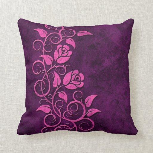 Rosas de piedra que remolinan, púrpuras cojín