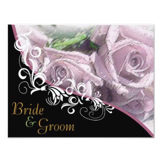 """Rosas de plata - el casarse echado a un lado 2 invitación 4.25"""" x 5.5"""""""