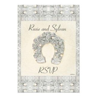 Rosas de plata RSVP que se casa de herradura Anuncio