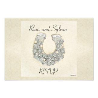 Rosas de plata RSVP que se casa de herradura Comunicados